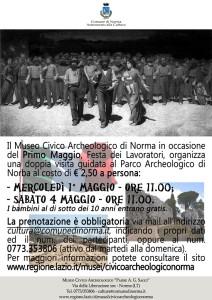 museo archeologico di norma Locandina_1_maggio_2013