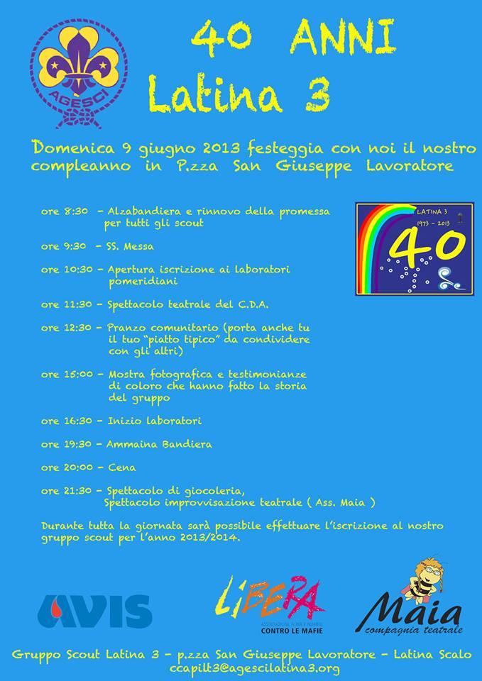 40 anni latina 3