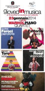 Warhol Piano Quartet