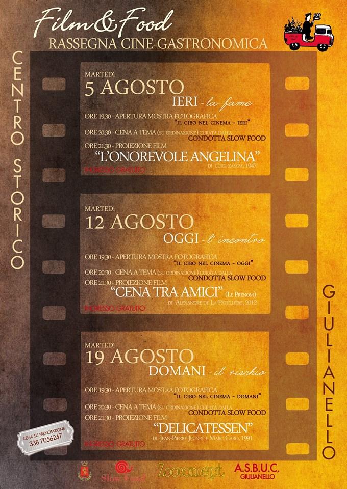 FILM&FOOD LOCANDINA