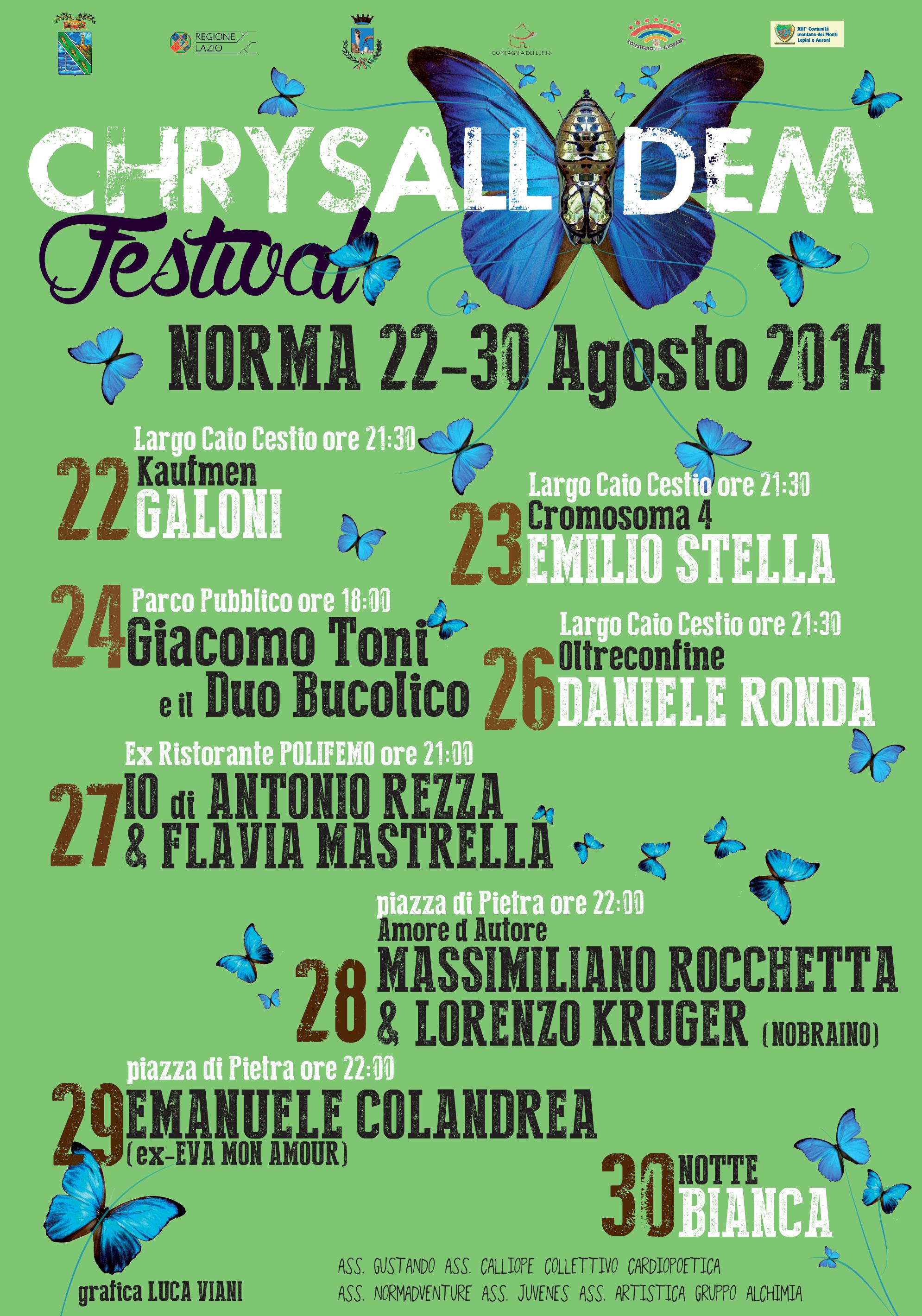 locandina chrysallidem festival