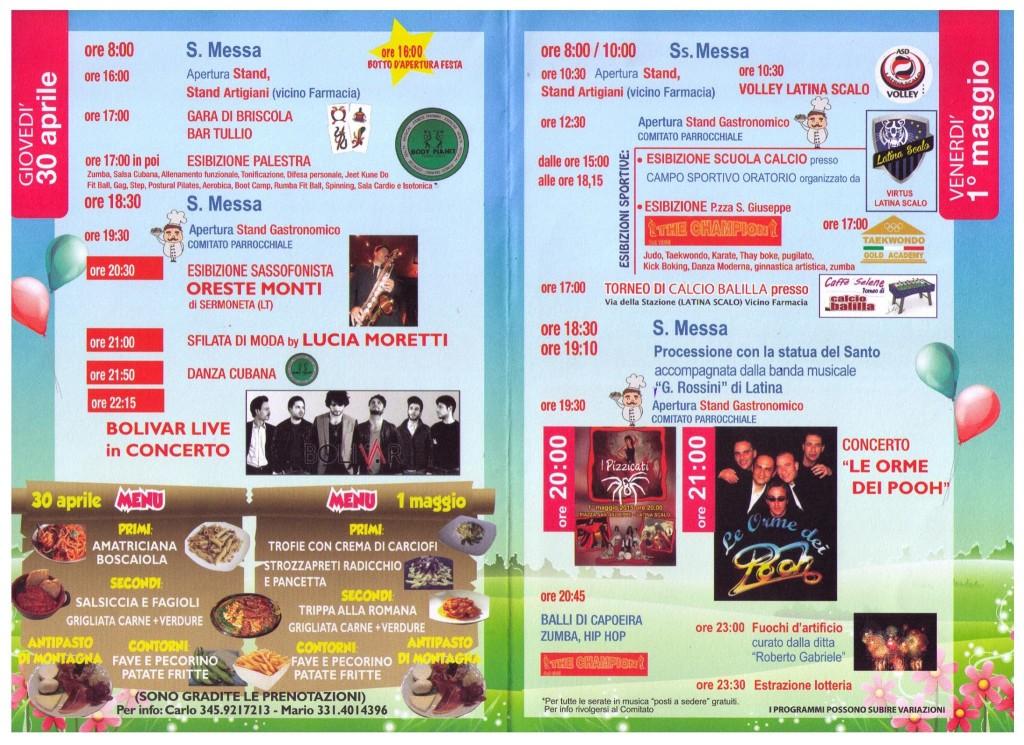 festa 1 maggio latina scalo