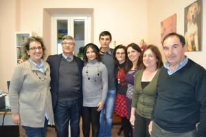 alcuni dei partecipanti al corso con il presidente Piantadosi