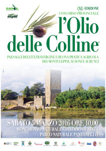 L'OLIO DELLE COLLINE - MANIFESTO PICCOLO