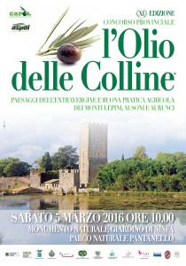 XI ED. CONCORSO PROVINCIALE L'OLIO DELLE COLLINE - LOCANDINA